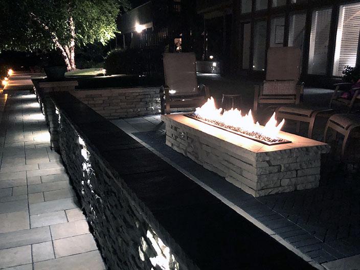 Fire pit Landscape 2019